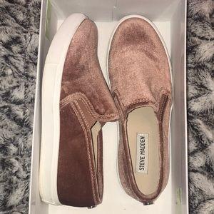 Steve Madden Velvet Slip On Shoes
